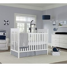 Create the nursery of your dreams with the Nautica Kids Mix & Match Crib Bedding Collection. In chic shades of grey and white with charming patterns and nautical elements, these pieces have a classic style.