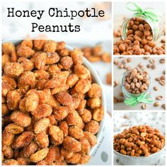 These Honey Chipotle Peanuts are the perfect barbecue or game day snack. Sweet, salty and flavorful, these peanuts offer a little kick that isn't too spicy. A fun and easy snack that has become a favorite of ours!