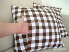 Make Simple Envelope Closure Pillow Covers | Eeny Meeny & Moe