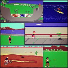 California Games Commodore 64 By Epyx). History Of Video Games, Roller Skating, Gaming Computer, Skateboarding, Bmx, Screen Shot, Games To Play, Videogames, Surfing
