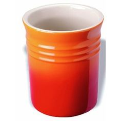Add a touch of colour to your kitchen with this classic orange Le Creuset stoneware utensil jar Kitchenette, Le Creuset Stoneware, Utensil Holder, Jar, Tableware, Kitchen Dining, Accessories, Polyvore, Design