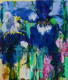 Private Gardens #4 Irises - Today Is A Good Day by Caroline Havers