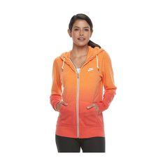 Women's Nike Sportswear Vintage Ombre Zip Up Hoodie, Size: Medium, Orange Oth