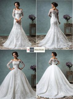 Insanely gorgeous, luxurious, vintage inspired Robin is a 2 in 1 wedding gown. Two piece mermaid with a ball gown attached full skirt fabulous wedding dress. http://www.mariabonitabridal.com/products/robin-wedding-dress