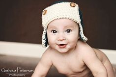 PDF Pattern for Crochet Baby Bomber Hat with Permission to Sell What You Make
