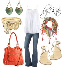 """""""Pop of color!"""" by mekate831 on Polyvore"""