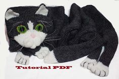cat scarf pattern PDF file  How knitting cat scarf by Eastalace