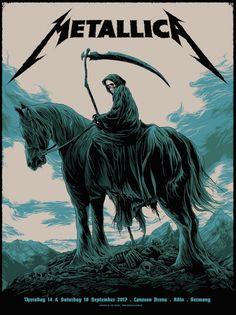 Metallica Concert Poster by Ken Taylor Metallica Concert, Metallica Art, Metallica Shirts, Arte Heavy Metal, Heavy Metal Music, Hard Rock, Heavy Metal Rock, Heavy Metal Bands, Musik Illustration
