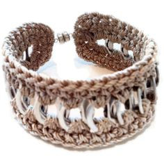 Cuff Friendship Bracelet  BrownBlack Beige Pop by PopTopFashion, $10.00