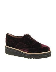ASOS MONROE Velvet Platform Creeper Shoes - StyleSays
