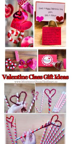 Peppermint Heart STEM Kids Science - Here is an EASY DIY Valentines for school without candy! All you need is pipe cleaners, pony beads - Homemade Valentine Cards, Diy Valentines Cards, Valentines For Kids, Valentine Day Crafts, Cutting Activities For Kids, Creative Activities For Kids, Diy Gifts For Friends, Gifts For Kids, Glitter Sensory Bottles