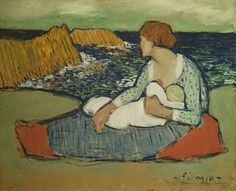 Mother and child by the sea, 1901 - Pablo Picasso (1881–1973)