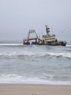 Shipwreck off the Skeleton Coast, Namibia