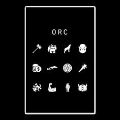 Orc Black Poster - Beacon