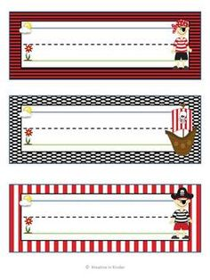 Pirate Theme Classroom Decor Set $6