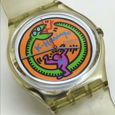 9721bd413d0 Vintage Swatch Watch 1985 This is a vintage Swatch Watch from 1985 that is  running and