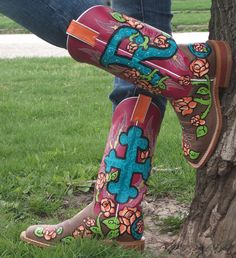 More Custom Painted boots by Rowdy Maui Cowboy Boots
