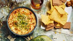 When great dips get together, it's magic. This recipe boasts all the beauty of a creamy onion dip with the irresistible appeal of queso.