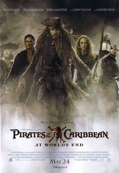 """""""Pirates of the Caribbean."""" Love the whole original trilogy(have yet to see the fourth), but the third, """"At World's End,"""" is my favorite."""