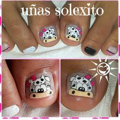 Pedicure Nail Art, Toe Nail Art, Manicure, Pretty Toe Nails, Pretty Toes, Acrylic Nails At Home, La Nails, Cow Print, Hair And Nails