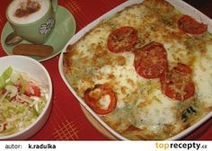 Italské lasagne s listovým špenátem, mozzarellou a parmazánem recept - TopRecepty.cz