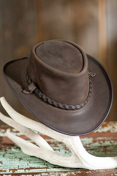 You'll get noticed in this hat that features the distinctive simplicity of crushable leather with a braided leather hatband. Free shipping   returns.