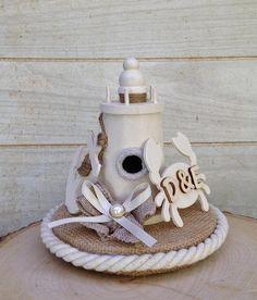 Nautical Wedding Cake Topper Lighthouse Crab Anchor