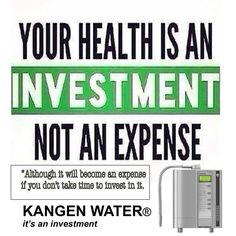 Your health is an investment not an expense... For less than most spend on Chemical laced bottled water... 35$ per month you can provide your Entire Family with the Healthiest water on the Planet... www.aquamiracles.com Call me and i can show you how you can get your machine for F>R>EE> Steve 732-901-8736