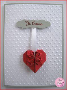 Carte Origami Coeur Passion Saint Valentin