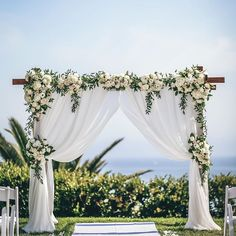 A Wedding Flowers Idea That Benefits Your Community – Best Wedding Planning Tips Wedding Ceremony Arch, Wedding Altars, Wedding Ceremony Decorations, Wedding Pergola, Wedding Arches, Arch For Wedding, Wedding Trellis, Corner Pergola, Small Pergola