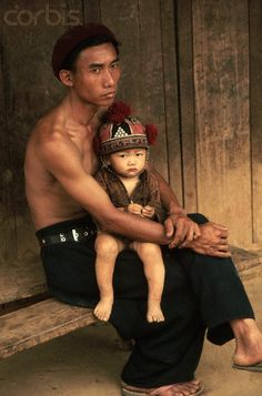 Akha Father and Child  Thailand