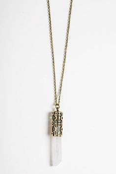 Brandy ♥ Melville   Gold Crystal Design Necklace - Jewelry - Accessories