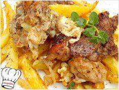 ΕΞΟΧΙΚΟ ΣΤΗ ΛΑΔΟΚΟΛΛΑ!!! - Νόστιμες συνταγές της Γωγώς! Cauliflower, Cooking Recipes, Chicken, Meat, Vegetables, Food, Tips, Beef, Advice