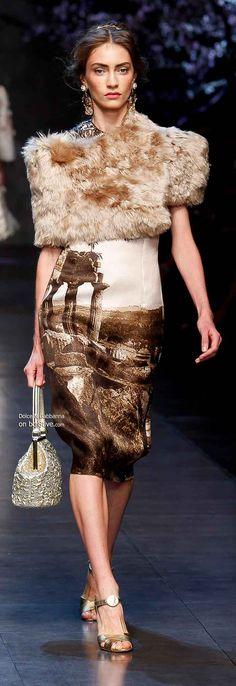 Fur trend 2014, Dolce & Gabbana