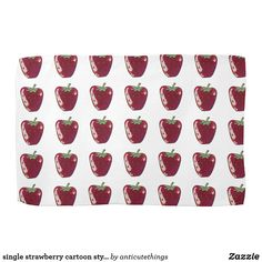 single strawberry cartoon style fruit illustration #kitchen #towel #home #decoration #homedecor #homedecorideas