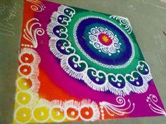 Beautiful rangoli for Pongal Indian Rangoli Designs, Rangoli Designs Latest, Rangoli Designs Flower, Rangoli Border Designs, Colorful Rangoli Designs, Flower Rangoli, Beautiful Rangoli Designs, Rangoli Colours, Rangoli Patterns