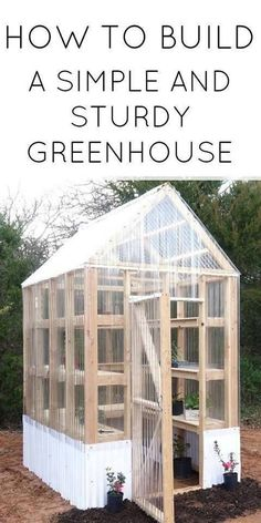 Dream Garden How to Build a Simple and Sturdy Greenhouse.Dream Garden How to Build a Simple and Sturdy Greenhouse. Build A Greenhouse, Greenhouse Gardening, Cheap Greenhouse, Greenhouse Ideas, Greenhouse Wedding, Diy Small Greenhouse, Indoor Greenhouse, Greenhouse Kits For Sale, Underground Greenhouse