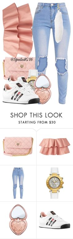 """Living the Life!"" by spoiledg16 ❤ liked on Polyvore featuring Marc Jacobs, Too Faced Cosmetics and adidas Originals"