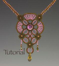 Beadwoven pendant pattern Vintage Lace Digital Download