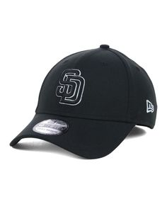 New Era San Diego Padres Black and White Classic 39THIRTY Cap Gorras Para  Hombre e76dd3cfd563