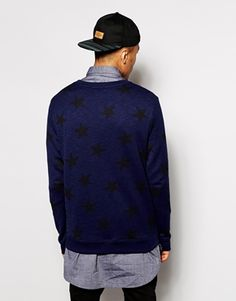 Enlarge River Island Sweatshirt with All Over Star Print