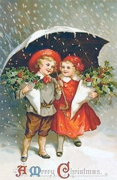 A Victorian Christmas. Images Vintage, Vintage Christmas Images, Old Christmas, Vintage Artwork, Victorian Christmas, Vintage Holiday, Christmas Pictures, Vintage Greeting Cards, Christmas Greeting Cards