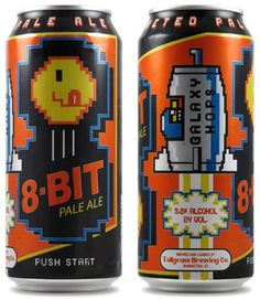 8-Bit Pale Ale - Beer For Gamers: Drinking and video games go hand in hand. So it shouldn't come as much of a shock to learn that Tallgrass Brewing Co. has come out with a video game themed beer, the 8-Bit Pale Ale.