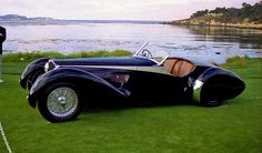 The Bugatti was unveiled in Paris in 1991 and went into production until Bugatti went out of business in 1995 (Bugatti has since been resurrected by Volkswagen). The car was available as a two-door sports car and only 31 cars were produced. Bugatti Type 57, Bugatti Cars, Maserati, Ferrari F40, Lamborghini Gallardo, Vintage Cars, Antique Cars, Art Deco Car, Volkswagen