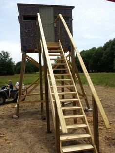 Deer hunting box stand build my stand tree stand plans for Box blind platform