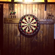 Handmade DIY project, our #BarnDoor for our Dart Board