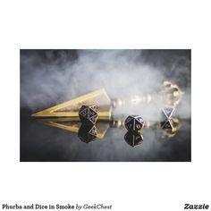 Phurba and Dice in Smoke Canvas Print