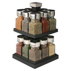 Olde Thompson Square Rotating Spice Rack - 16 Jars : Target