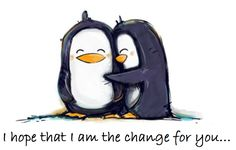 Penguin, love, I hope I'm the change for you, tattoo