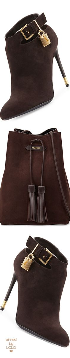 TOM FORD Suede Double-Tassel Medium Bucket Bag | LOLO❤︎